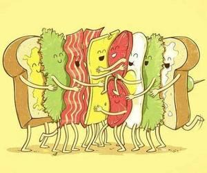 sandwich, food, and hug image