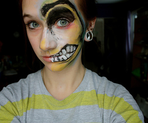 art, face paint, and girl image