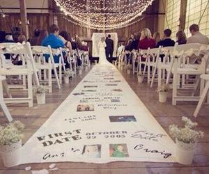 wedding, couple, and memories image