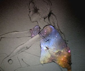 art, star, and dust image