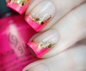 pink, glitter, and nails image