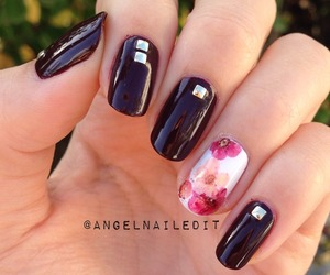 flower, manicure, and nail art image