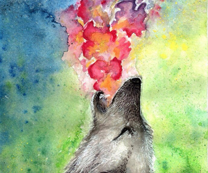 wolf, art, and painting image