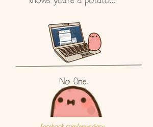alone, kawaii, and potato image