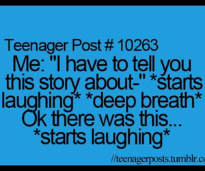 laught and teenager post image