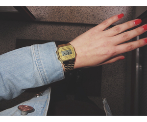 casio, girl, and gold image