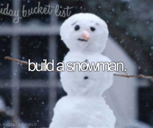 snowman, christmas, and snow image