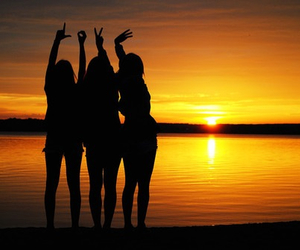 love, girls, and friends image