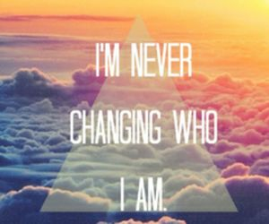 quote, never, and clouds image