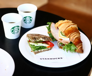coffe, meal, and sandwich image