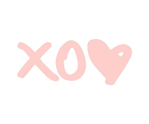 pink, xo, and heart image