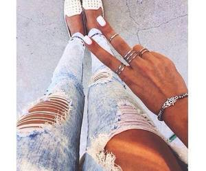 style, jeans, and nails image