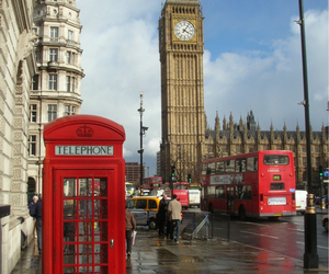 london, Big Ben, and telephone image