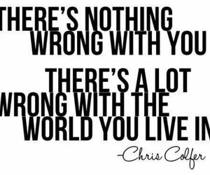 quote, world, and chris colfer image