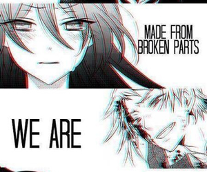 anime, pandora hearts, and broken image
