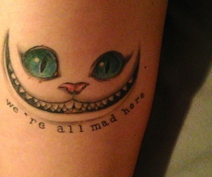 tattoo, cat, and mad image