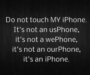 iphone, phone, and quote image
