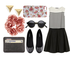 accessories, earrings, and floral image