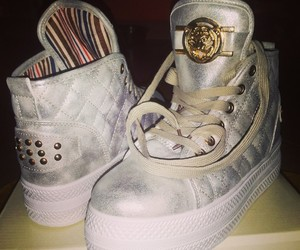 cool, gold, and shoes image