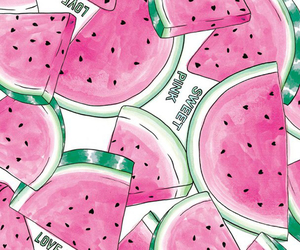pink, watermelon, and sweet image