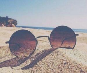beach, summer, and sunglasses image