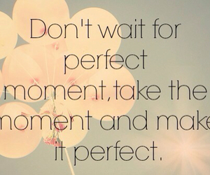 quote, perfect, and flowers image