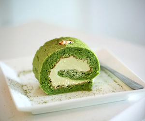 food, cake, and green image