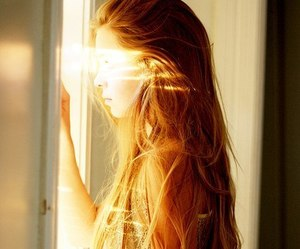 girl, hair, and sun image