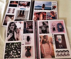 book, fashion, and notebook image