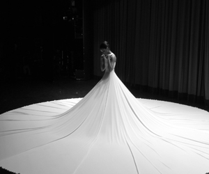 dress, white, and black and white image