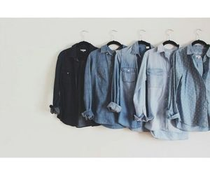 blue, denim, and pretty image
