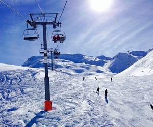 france, lift, and alpes image