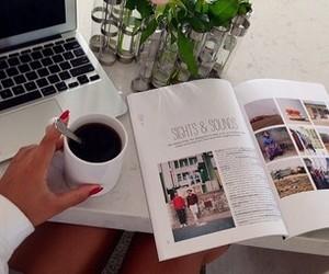 magazine and coffee image