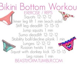 workout, bikini, and fitness image