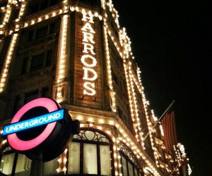 harrods, night, and train image