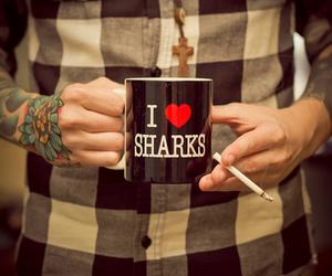 tattoo, boy, and shark image