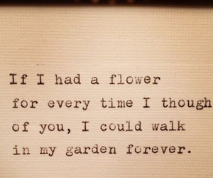 love, flowers, and garden image