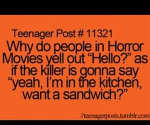 funny, horror, and sandwich image