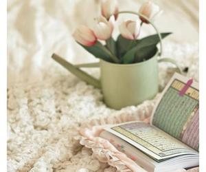 flowers and quran image