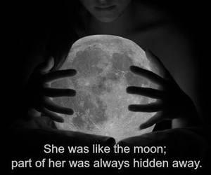 girls, moon, and sad image