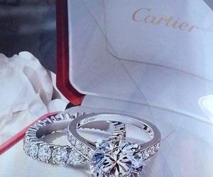 cartier, rings, and diamond image