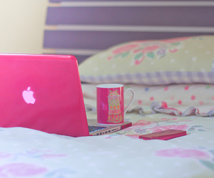 apple, bed, and relax image