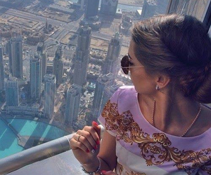 girl, Dubai, and city image