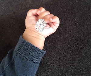 baby, ring, and diamond image