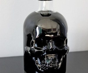 black, bottle, and glass image