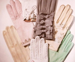 gloves, vintage, and pastel image