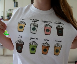 shirt, starbucks, and quality tumblr image