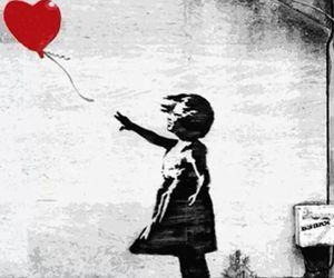 art, BANKSY, and balloon image
