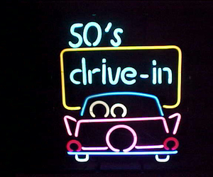 50s, neon, and cute image