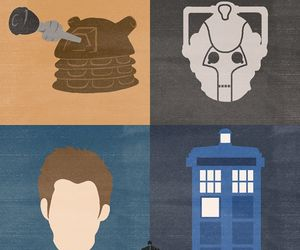 cyberman, Dalek, and doctor who image